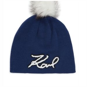 Karl Lagerfeld Embroidered Beanie